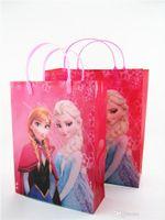 400pcs de Navidad Congelado de PVC, Bolsas de la Princesa Anna Elsa de la Bolsa de Bolsa de Regalo para los niños de los niños de las niñas de bebé Bolsa de la Compra de Bolsos de mano