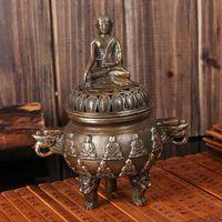 Wholesale Copper incense burner Amitabha line incense disc incense Buddha Buddhist activities