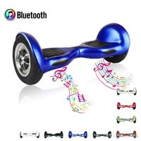 remote control electric skateboard - LED Scooter Smart Balance Wheel Inch Electric Skateboard With Bluetooth Speaker Dual Hovertrax Airwheel Tire Hoverboard Remote Control