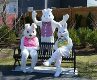 easter bunny costumes - Professional Easter Bunny in vest Mascot Costume for Halloween Birthday Party Costume Cartoon costume suit Outfit