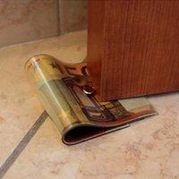 Wholesale Creative Money Door Stopper Jammer Dollar Japanese Yen Euro Bill Money Doorstop PVC Creative Cash Bill