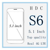 Wholesale HDC s6 Mobile Phone Inch x1080 HD Screen MTK6735 Quad Core GB RAM GB ROM GPS MP Android Lollipop Goophone with case