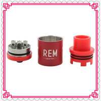 Cheap Wholesale REM Creations RDA Mod In Black Silver White Blue Red Colors REM Dripper Vape Tank for YEP NTC 60W Wood Box Mod