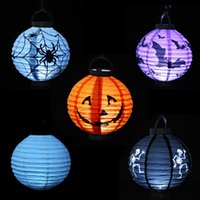 bat house pattern - Halloween Decoration Lantern Bar Party Haunted House Halloween party led Lantern spider Pumpkin Bat Skeleton skull pattern