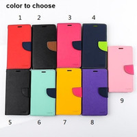 Wholesale Free DHL Mercury Wallet PU Flip Leather Case Card Slot for Samsung iphone nokia LG htc sony