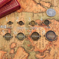 bezels - HOT SALE MM Round Antique Bronze Bracelet Setting Base cuff bracelet blank bezels jewelry bezels