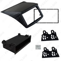 Wholesale 2DIN Stereo Panel Mounting Trim Kit Frame Fascia With DIN Spacer Pocket For Mitsubishi Pajero Sport Montero Sport Shogun Sport G Wagon Nati