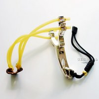 Wholesale Slingshots Speed Shot Slingshot Discoverer Stainless Steel NO Special for Athletics Outdoor Hunting Hunter Sling Shot Cheap