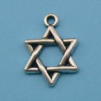 antique jewish jewelry - New Fashion Easy to diy jewish magen david charms vintage antique silver toned jewelry making fit for necklace or bracel