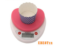 Wholesale Household electronic kitchen scale electronic scales precision kitchen gram called g kg food baking scales