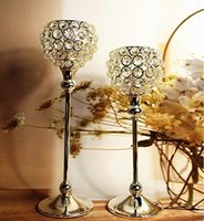 wedding candelabra - metal silver plated candle holder with crystals wedding candelabra centerpiece decoration set candlestick