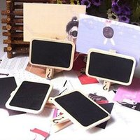 Wholesale 1PCS Blackboard Slate Chalk Board Childrens Dolls Blackboard Mini Kitchen Memo Board