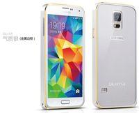 galaxy - For Galaxy S5 Case Slim Cute Colorful Luxury Original Metal Aluminium Frame Brand Acrylic Cover Case For Samsung Galaxy S5 I9600