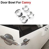 auto pulley - New ABS Chrome Styling Car Door Bowl Cover For Toyota Camry Generation Auto Accessories High Quality
