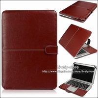 Wholesale 1PC PU Leather Laptop Sleeve Bag Case Cover For Apple Macbook Air inch inch Macbook Case