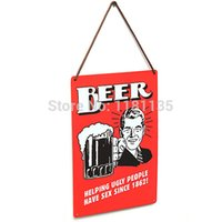 Cheap Vintage Tin Sign Metal Wall Art Decor Retro Bar Home Poster Plaque Advertising Beer Sign Beer Poster 30x20cm Free Shipping