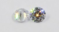 Wholesale 50pcs mm mm Cubic zirconia Machine Cut simulated diamond round loose stones