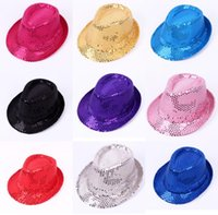 Wholesale Christmas supplies Sir Hats Adult and children general sequins hats The magic show hats
