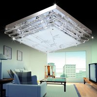 Cheap Contemporary Square LED Crystal Chandeliers(AC220-240V)