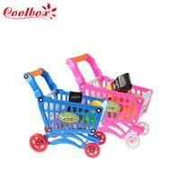 Wholesale Mini Supermarket Shopping Handcart Holder Baby Toy Mini children supermarket shopping cart toy New