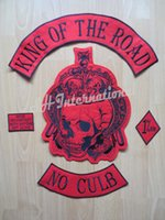 Wholesale King Of The Road Embroidery Twill Motorcycle Club Biker Patches for Jacket Back Full Size and Full Set MC Support Customized YR