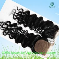 Cheap 40g silk lace closure Best Natural Color Malaysian Hair silk base lace closure