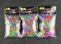 loom band - Quality Loom Bands Metallic Style Rubber Bands Loom Band Wrist Bands Colars bands clips Mixed Colors in One Bag
