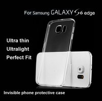 Wholesale IN USA For Apple iPhone plus S S Clear Transparent Ultrathin TPU Case Invisiable Silicone phone cases for Samsung Galaxy S6 EDGE NOTE
