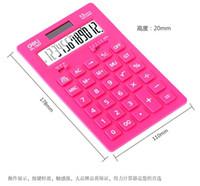 dual calculator - deli brand calculators TOP2015 BEST SELLER COLORFUL solar energy calculator A LCD SCREEN DIGITALS