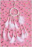 Wholesale White Handmade Dream Catcher for home ornament wall or car hanging decoration