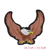 applique embroidery machines - Biker Iron On Patch Eagle Motorcycle Embroidered Patches Badge Appliques Embroidery Biker Patch For Back of Jacket