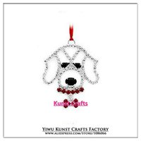 beagle pets - Silver Beagle Dog Ornaments Christmas Tree Decoration Pet Present Dangles CC007