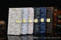 Wholesale 2016 new Case For iphone s s Luxury Diamond Leather Bling Flip Wallet Cover for samsung s4 s5 s6 edge note