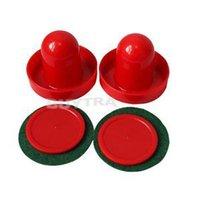 air hockey sets - 2014 New Fashion Mini Air Hockey Pusher mallet Brand red Air Hockey Table mm Goalies mm Pucks Felt Pusher Set