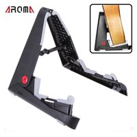Wholesale Aroma AGS Foldable Stand A frame Holder Bracket Mount for Guitar Bass Stringed Instrument Universal Compact Space saving