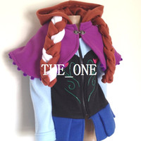 Wholesale Cape Jackets For Kids - frozen hoodies elsa and anna long sleeve Anna jacket with cape Elsa jacket coat clothing for children girls hoodies baby kids coat in stock