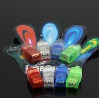 Wholesale 1000 factory sale LED Finger Lamp x Color LED laser finger beams party Light up finger ring laser lights with blister package