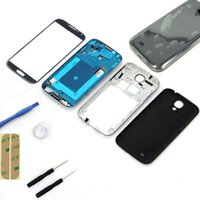 Wholesale NEW Black Replacement Full Housing Case Screen Glass tools Repair Assembly For Samsung S4 i9500
