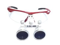Cheap 3.5x420mm Dental Loupes Surgical Binocular Loupe Magnifying Glasses red