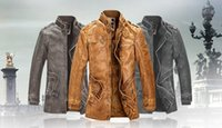 Men leather coat men - 2014 New Rushed Fashion Motorcycle Leather Jacket Men Winter Thick Warm Vintage PU Leather Jackets Military Mens Trench Coat