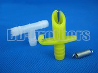 Wholesale Yellow Plastic Drinker Waterer with Spring and Tee Coupling Automatic Drinker for Rabbit Parrot Otter Poultry sets