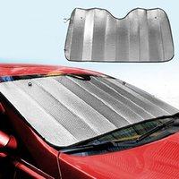 Wholesale 2015 New Arrival Arrival Pc Foldable Car Windshield Visor Cover Front Rear Block Window Sun Shade RW4