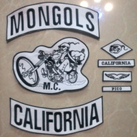 Wholesale DIY Mongols Patches Biker Patches For Jacket Custom Patch Motorcycle Vest Mc Patches Hot Sale