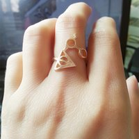 Wholesale 2015 New Arrival Hot Harry Potter And The Deathly Glasses Artifact Ring For Men and Women