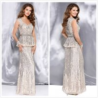 Reference Images gold pan - 2015 Sparkling Mother Off Bride Dresses Luxury Beaded Sequined Modest Off Shoulder Mother Of The Bride Pan Suits Formal Evening Dress