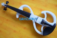 Wholesale Black White Beginner Electric Fiddle Violin For Sale Wood Student Electronic Violine New
