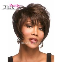 Cheap Short Wigs For Black Women African Americans Synthetic Wigs Cheap Wigs Pixie Cut Hairstyle Hot Sale