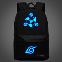 Wholesale New Naruto Backpack Boy Girl Hokage Ninjia School Bags For Teenagers Sports Bag Japanese Anime Canvas Backpacks