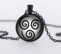 airs copper necklace - Avatar the Last Airbender Pendant Air Nomad glass Pendant necklaces Charm Gray Necklace Chain men Jewelry women gift CN453