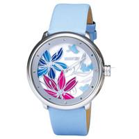 designer watches - Designer Ladies Watches Quartz Wristwatches Genunine Leather Strap Waterproof Watches Lotus Printed Discount Watch Wristwatches online